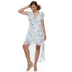 Juniors' Lily Rose Floral High-Low Maxi Dress