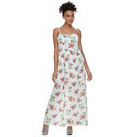 Juniors' Lily Rose Floral Maxi Dress