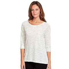 Women's Gloria Vanderbilt Space-Dye French Terry Tee