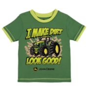 "Toddler Boy John Deere ""I Make Dirt Look Good!"" Tractor Graphic Tee"