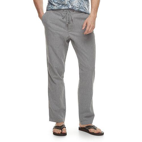 b519c7e8a14b16 Men's Marc Anthony Slim-Fit Elastic-Waist Linen-Blend Pants
