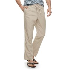 Men's Marc Anthony Slim-Fit Elastic-Waist Linen-Blend Pants
