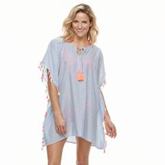 Women's Miken Striped Tassel Tie Cover-Up