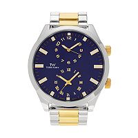 Territory Men's Dual Time Two Tone Watch - KH-TW-221488-1-TTBLU
