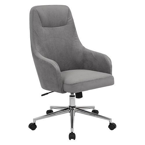 Ave Six Marigold Velvet Upholstered Desk Chair