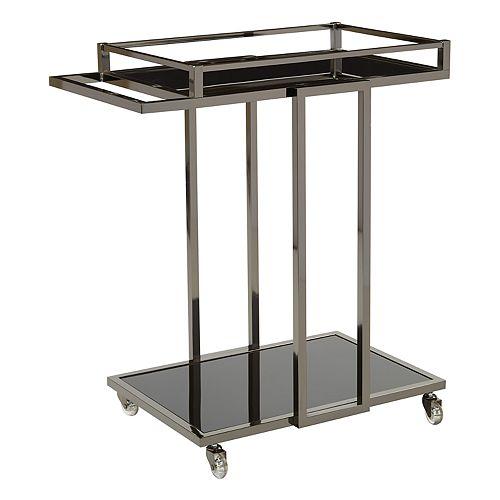 OSP Designs Angela Mirrored Bar Cart