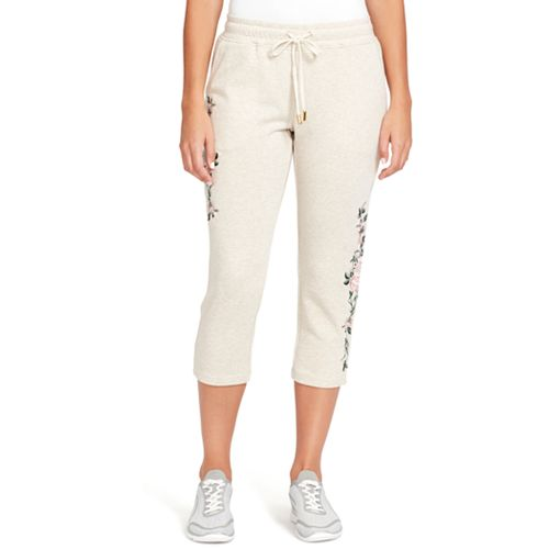 Women's Gloria Vanderbilt Embroidered French Terry Capris