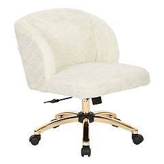 Ave Six Ellen Faux-Fur Desk Chair