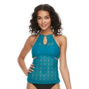 Mix and Match Crochet High-Neck Tankini Top