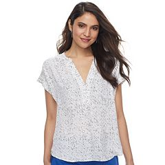 Women's Apt. 9® Cuffed Crepe Blouse