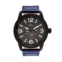 Territory Men's Leather Watch - KH-TW-29572-BLU-BLK
