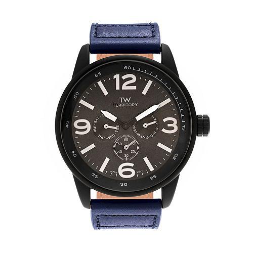 Territory Men's Leather Watch - KH-TW-29572-BLU-BLK