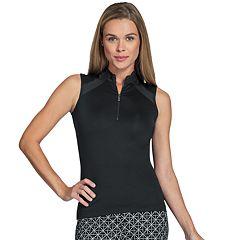 Women's Tail Ailey Black Golf Tank