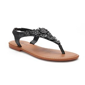 Candie's® Women's Glittery ... Floral Shield Sandals for nice cheap price newest cheap price sale largest supplier outlet wholesale price best seller QyOGz3je