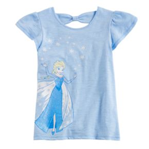 Disney's Frozen Elsa Girls 4-10 Flutter Cross-Back Tee by Jumping Beans®
