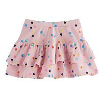 Girls 4-10 Jumping Beans® Tiered Printed Tulip Skort