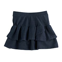 Girls 4-10 Jumping Beans® Tiered Faux Denim Tulip Skort