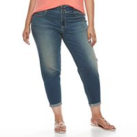 Plus Size Apt. 9® Cuffed Denim Capris