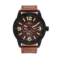 Territory Men's Leather Watch - KH-TW-29572-BRN-BLK