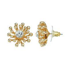 Dana Buchman Flower Stud Earrings