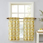 Top of the Window Sunflower Tier Kitchen Window Curtain Pair