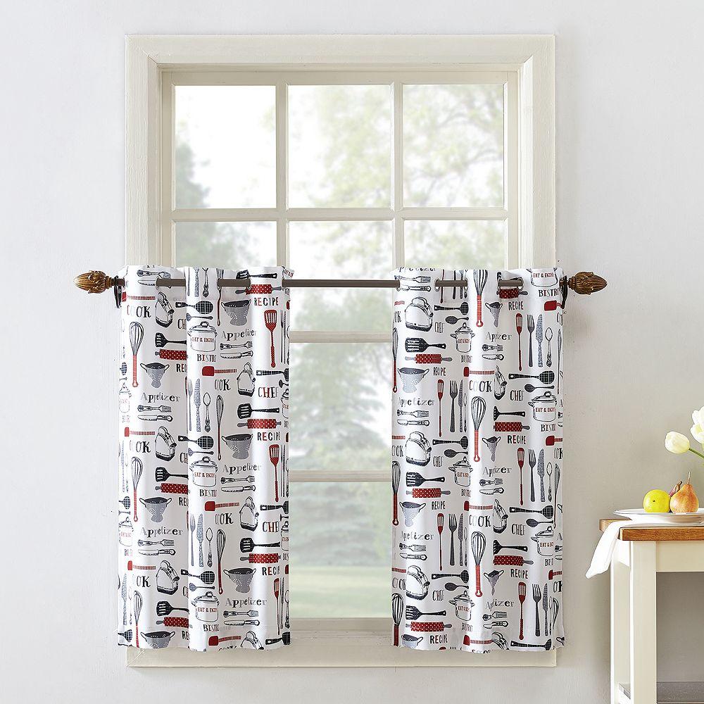 Top of the Window Bistro Tier Kitchen Window Curtain Pair