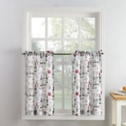 Top of the Window Wine Down Tier Kitchen Window Curtain Pair
