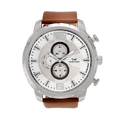 Territory Men's Leather Watch - KH-TW-219979-1SILBRN