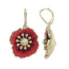 Dana Buchman Poppy Nickel Free Drop Earrings