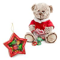 Godiva Chocolatier Limited Edition 2017 Holiday Plush Bear & Holiday Truffles Star Ornament