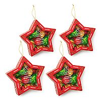 Godiva Chocolatier Holiday Star Ornament & Wrapped Chocolate Truffles 4-pk.