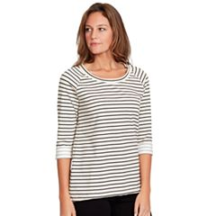 Women's Gloria Vanderbilt Striped French Terry Tee
