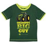 "Toddler Boy John Deere ""Grandpa's Big Guy"" Tractor Graphic Tee"