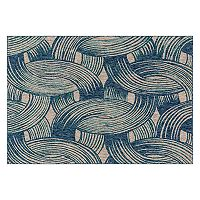 Loloi Newport Interlocked Lines Geometric Indoor Outdoor Rug