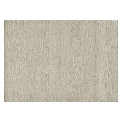 Loloi Oakwood Neutral Solid Wool Blend Rug
