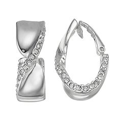 Dana Buchman Twisted Clip-On U-Hoop Earrings