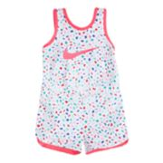Baby Girl Nike Print Romper