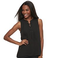 Women's Apt. 9® Lace-Up Georgette Tank