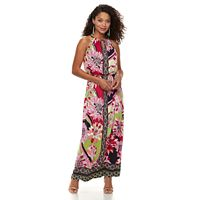 Petite Suite 7 Mixed Print Maxi Dress