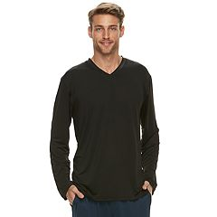 Men's Jockey Sueded Jersey V-Neck Long Sleeve Sleep Shirt