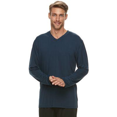 Men's Jockey Sueded Jersey V-Neck Long Sleeve Sleep Shirt