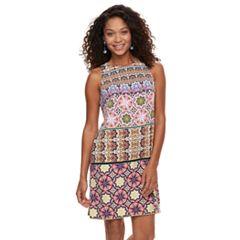 Petite Suite 7 Tile Print Shift Dress