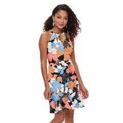Petite Suite 7 Floral High Neck Sheath Dress