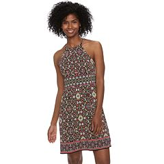 Petite Suite 7 Printed High Neck Dress