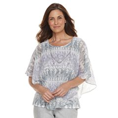 Women's Alfred Dunner Studio Scroll Popover Top