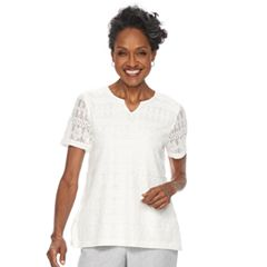 Women's Alfred Dunner Studio Embelllished Lace Top