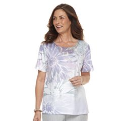 Women's Alfred Dunner Studio Floral Embellished Top