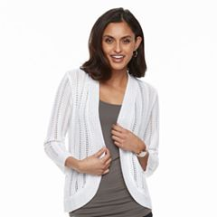 Women's Dana Buchman Open-Stitch Cardigan