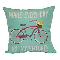 Brentwood ''Make Every Day an Adventure'' Throw Pillow