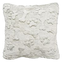 Spencer Home Decor Maximus Dog Bone Faux Fur Throw Pillow